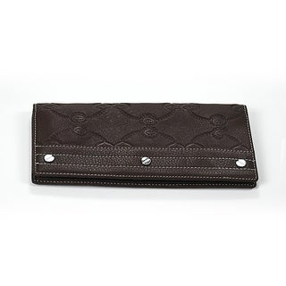 Charriol Escapade VI Brown Leather Stamped Wallet