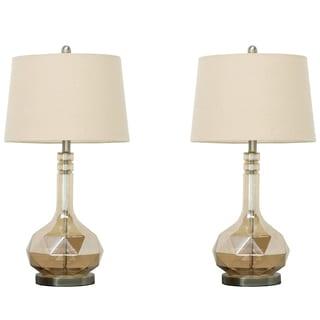 Urban Designs Jazlyn Glass Table Lamp - Set of 2