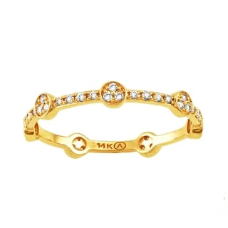Beverly Hills Charm 14K Yellow Gold 1/4ct TDW Diamond Stackable Eternity Band Ring (H-I, SI2-I1)