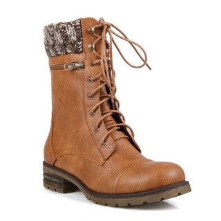 Mark and Maddux Travis-16 Lace-up Women's Mid-Calf Boots