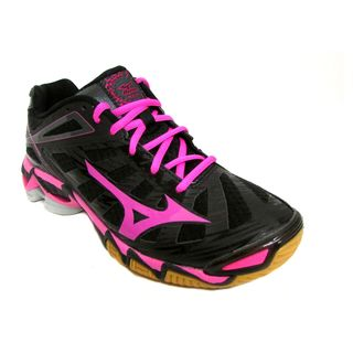 Mizuno Women's Wave Lightning RX3 Black/Pink/Black Running Shoes