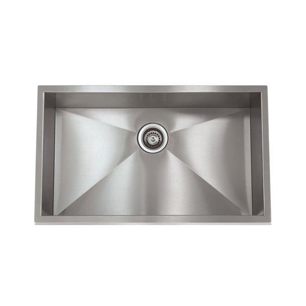 Zero Radius Stainless Steel 28-inch x 18-inch Sink