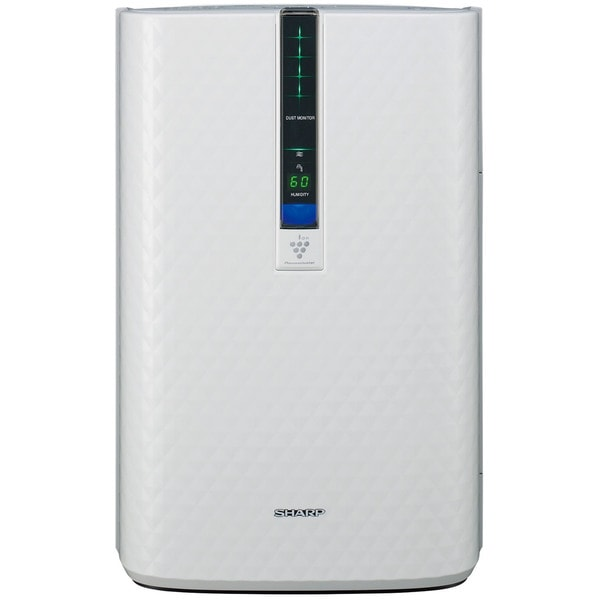 Sharp Triple Action Plasmacluster White Plastic/Metal 254-square-foot Air Purifier with Humidifying Function 19422991