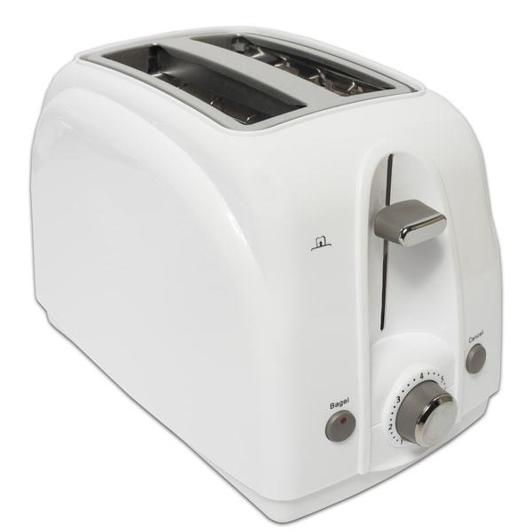 White Anti-jam Two-slice Toaster