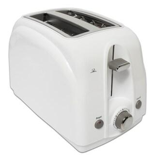 White Anti-jam Two-slice Toaster
