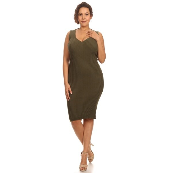 Hadari Womens Plus Size Body-con Dress