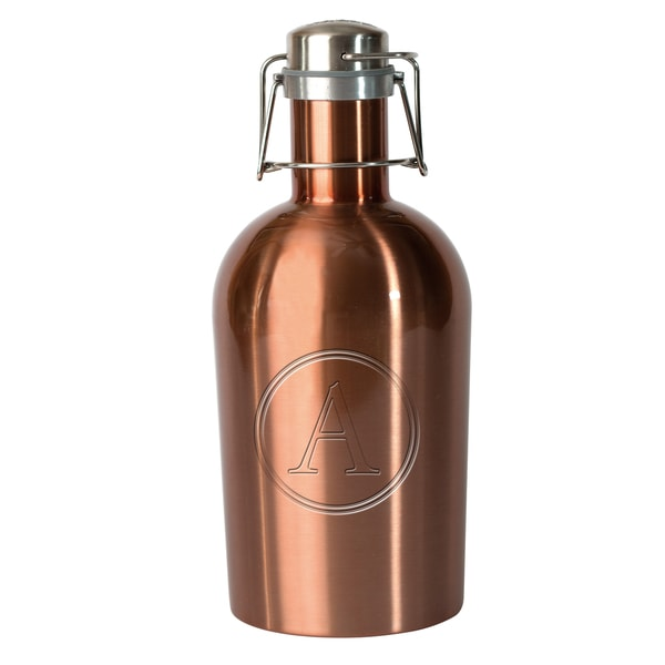 Adnart Copper-tone Stainless Steel Monogrammed Beer Growler 19423539