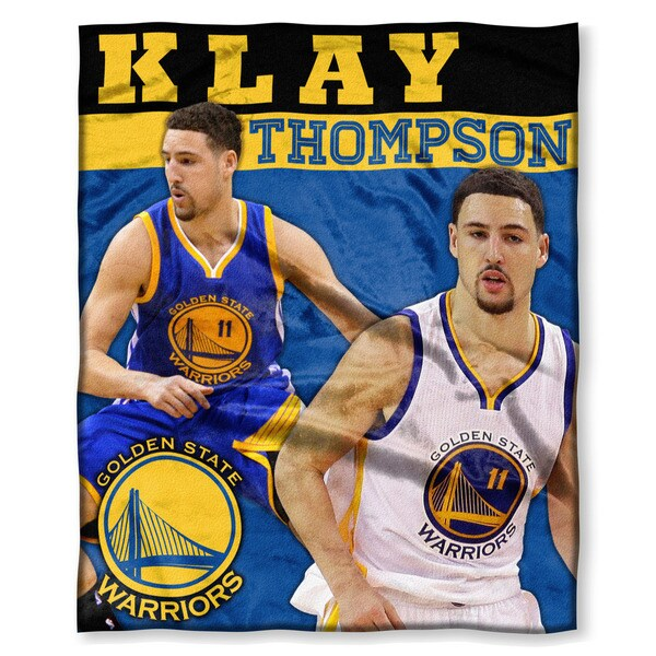 NBA 575 Warriors Klay Thompson Silk Touch Throw 19423574