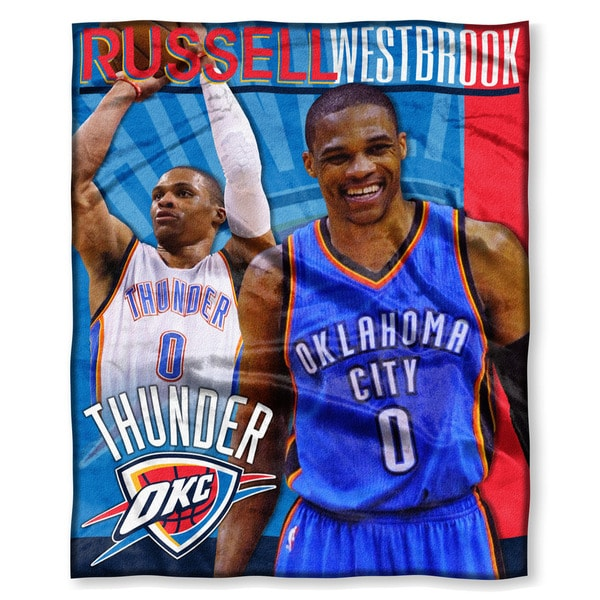 NBA 575 Thunder Russell Westbrook Silk Touch Throw 19423577