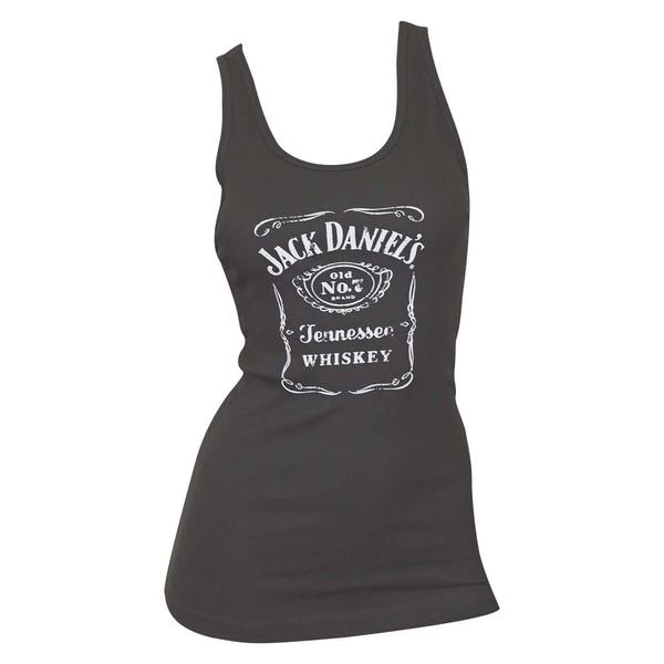 Jack Daniels Women's Black Whiskey Label Tank Top