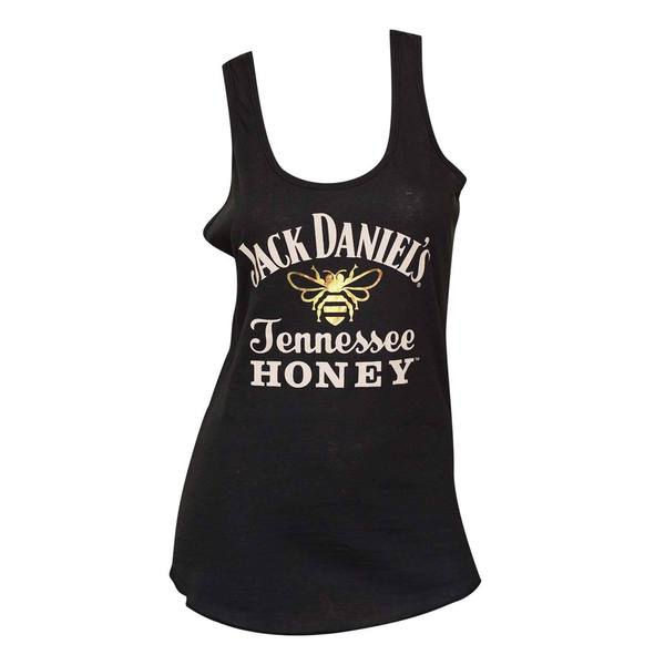 Women's Jack Daniels Honey Black Cotton/Polyester Tank Top