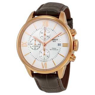 Tissot Men's T0994273603800 'T-Classic Chemin Des Tourelles' Chronograph Automatic Brown Leather Watch