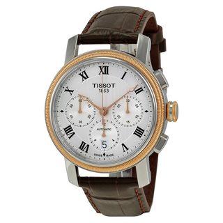 Tissot Men's T0974272603300 'Bridgeport' Chronograph Automatic Brown Leather Watch