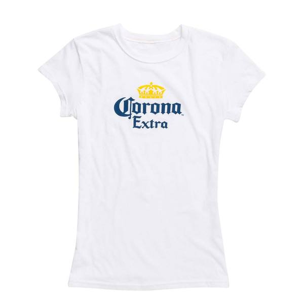 Corona Extra Ladies' White Cotton Short-sleeve T-shirt