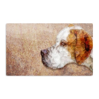 KESS InHouse Ancello 'Abstract Beagle' Brown Geometric Artistic Aluminum Magnet
