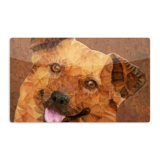 KESS InHouse Ancello 'Abstract Puppy' Brown Geometric Artistic Aluminum Magnet