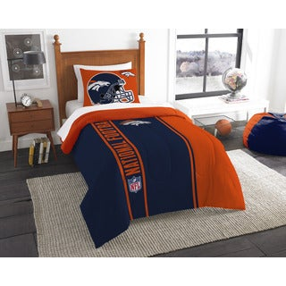 The Northwest Company Official NFL Broncos Twin Applique Comforter and 1 Sham Set