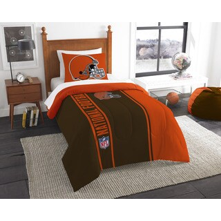 The Northwest Company Official NFL Browns Twin Applique Comforter and 1 Sham Set