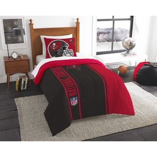 The Northwest Company Official NFL Bucs Twin Applique Comforter and 1 Sham Set