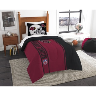 The Northwest Company Official NFL Cardinals Twin Applique Comforter and 1 Sham Set