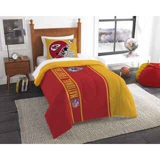 The Northwest Company Official NFL Chiefs Twin Applique Comforter and 1 Sham Set