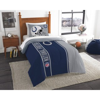 The Northwest Company Official NFL Colts Twin Applique Comforter and 1 Sham Set