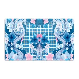 KESS InHouse Aimee St. Hill 'Ornate Blue' Artistic Aluminum Magnet