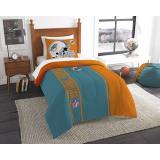 The Northwest Company Official NFL Dolphins Twin Applique Comforter and 1 Sham Set