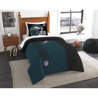 The Northwest Company Official NFL Eagles Twin Applique Comforter and 1 Sham Set