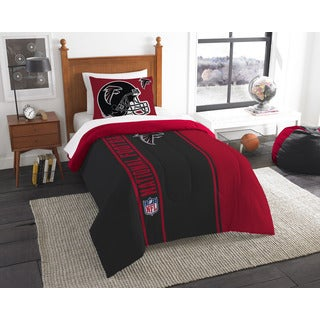 The Northwest Company Official NFL Falcons Twin Applique Comforter and 1 Sham Set