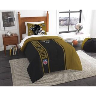 The Northwest Company Official NFL Jaguars Twin Applique Comforter and 1 Sham Set