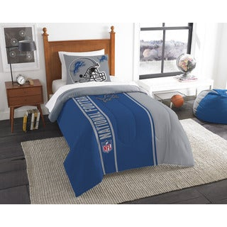 The Northwest Company Official NFL Lions Twin Applique Comforter and 1 Sham Set