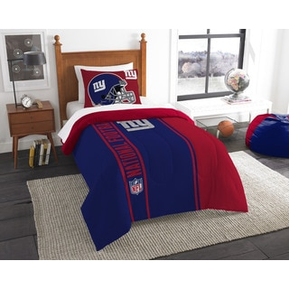 The Northwest Company Official NFL NY Giants Twin Applique Comforter and 1 Sham Set