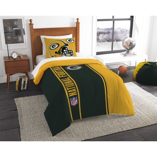 The Northwest Company Official NFL Packers Twin Applique Comforter and 1 Sham Set