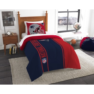 The Northwest Company Official NFL Patriots Twin Applique Comforter and 1 Sham Set