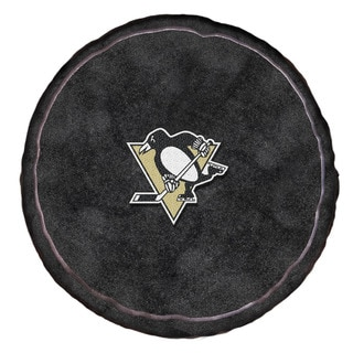 The Northwest Company NHL 199 Penguins Black Polyester 15-inch x 15-inch 3D Sports Pillow