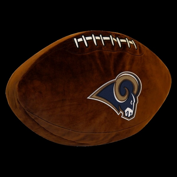 The Northwest Company NFL Rams Brown Polyester 3D Sports Pillow