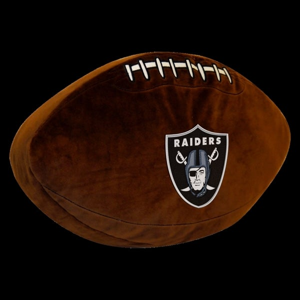 The Northwest Company NFL 199 Raiders Brown Polyester 3D Sports Pillow