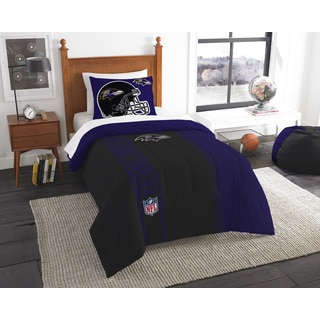 The Northwest Company Official NFL Ravens Twin Applique Comforter and 1 Sham Set