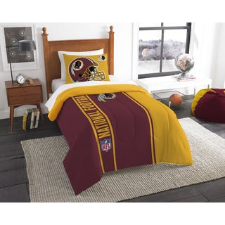 The Northwest Company Official NFL Redskins Twin Applique Comforter and 1 Sham Set