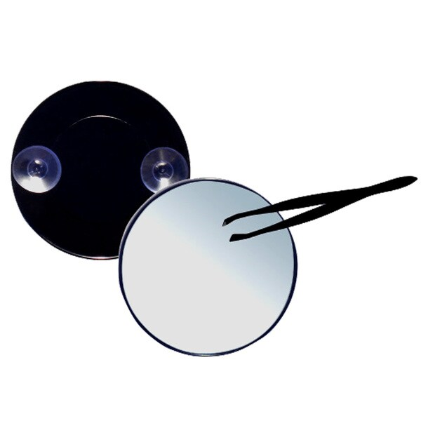 Round 10x Magnification Suction Mirror plus Tweezers 19424302
