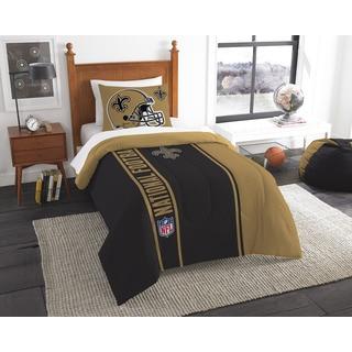 The Northwest Company Official NFL Saints Twin Applique Comforter and 1 Sham Set