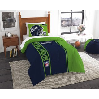 The Northwest Company Official NFL Seahawks Twin Applique Comforter and 1 Sham Set