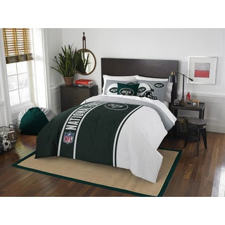 The Northwest Company Official NFL 836 Jets Full Applique Comforter and 2 Shams Set