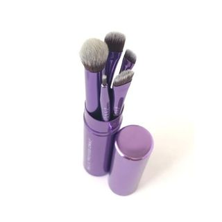 Deluxe Eye 5-piece Makeup Brush Set with Travel Capsule