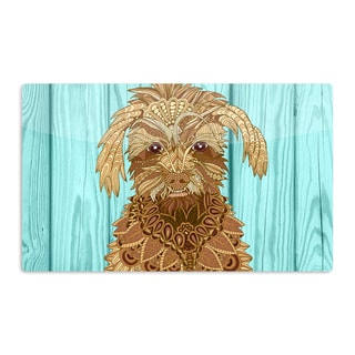 KESS InHouse Art Love Passion 'Gatsby the Great' Brown Dog Artistic Aluminum Magnet