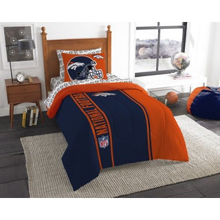 NFL 845 Broncos Twin 5-piece Bed in a Bag with Sheet Set