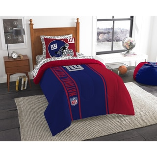 NFL 845 NY Giants Twin 5-piece Bed in a Bag with Sheet Set