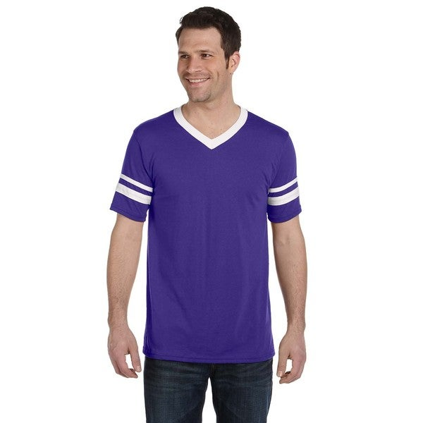 Men's Purple/White Sleeved Stripe Jersey