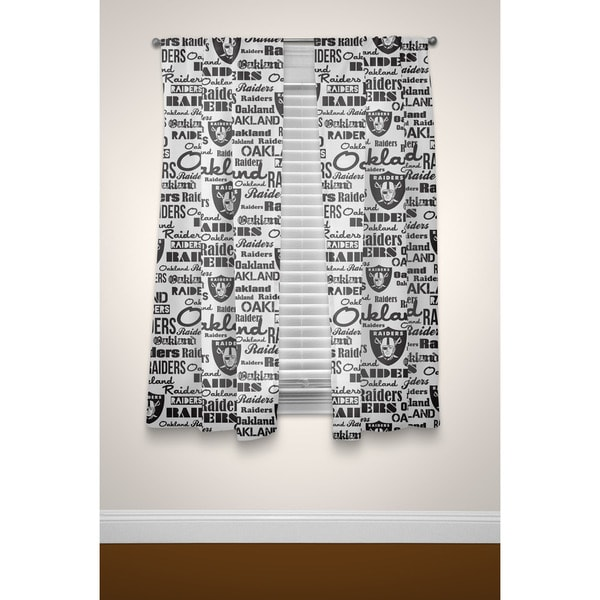 The Northwest Company Official NFL Raiders Polyester Curtain Panel Pair